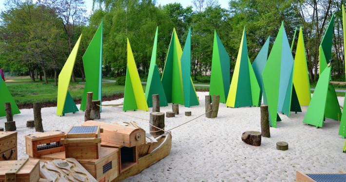Spielplatz in der Wieseckaue - Foto Stadtplanungsamt