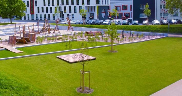 Spielplatz in der Lahnaue - Foto Stadtplanungsamt